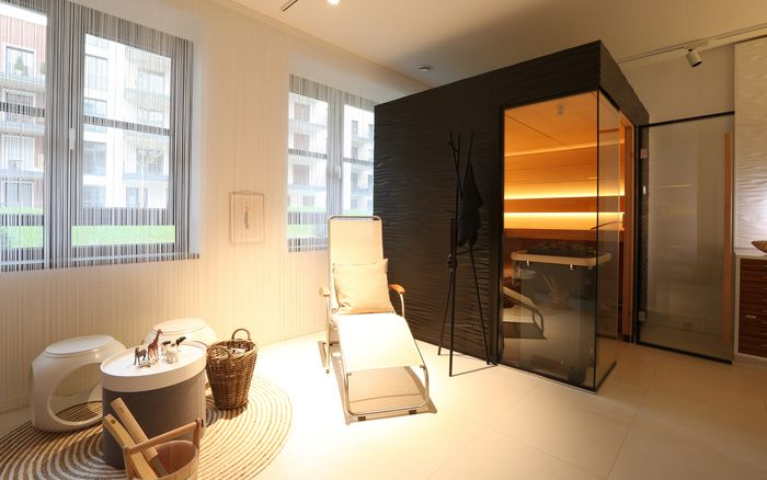 Sauna and spa showroom in Frankfurt