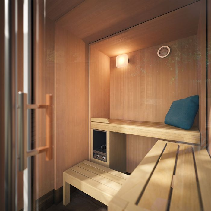 Interior design of the Sauna S1 MANUAL