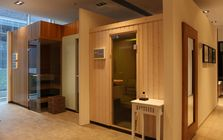 Sauna and spa showroom in Hamburg: Sauna