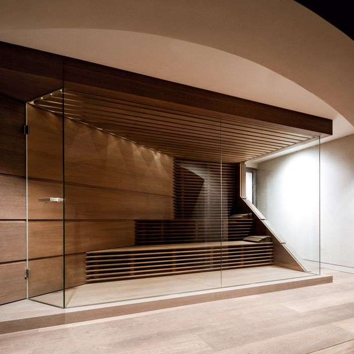 KLAFS manufactures made-to-measure saunas for rooms with complex layouts or features.