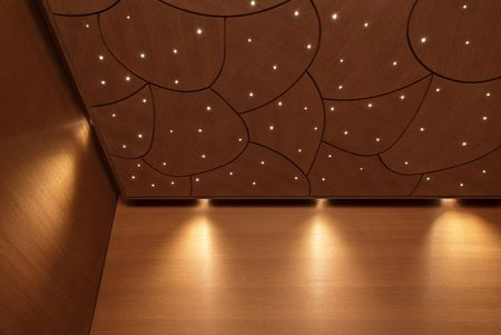 CASENA interior with CURVE ceiling and POLAR Starry Sky