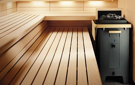 MAJUS sauna and SANARIUM® heater – free-standing heater in modern design.