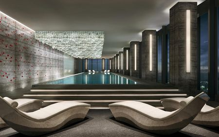 References worldwide: Fairmont Hotels & Resorts, Nanjing, Pool with relaxation area