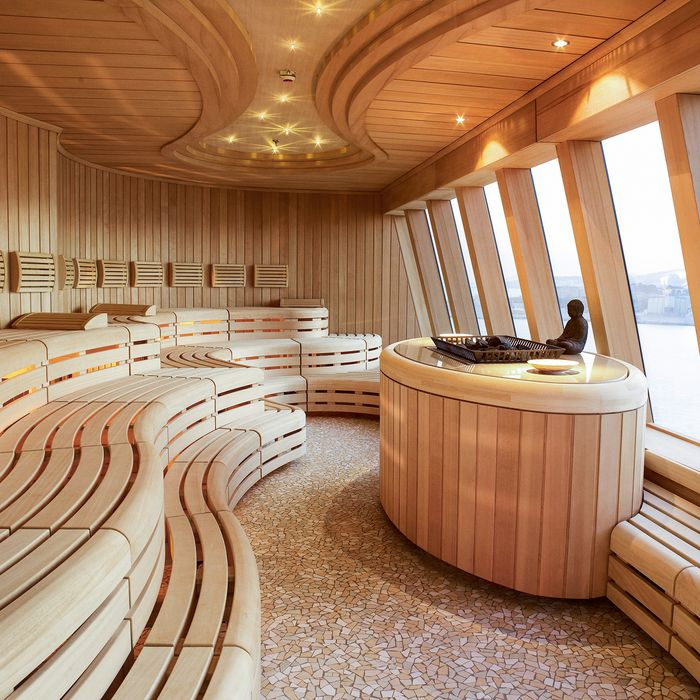Sauna with sea views