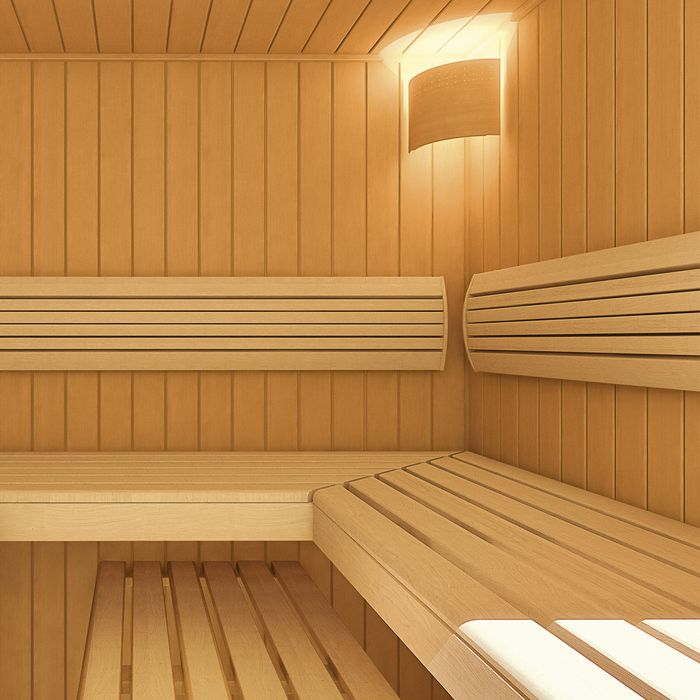 TORNI Outdoor Sauna with hemlock SOFTLINE profile boards
