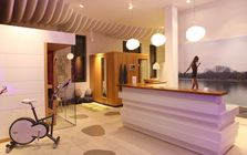Sauna and spa showroom in Saarbrucken: Sauna area