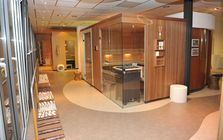 Sauna and spa showroom in Bielefeld: Sauna showroom
