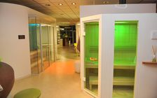 Sauna and spa showroom in Bielefeld: SMART SAUNA white