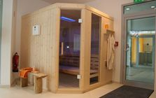 Sauna and spa showroom in Mannheim: Sauna area