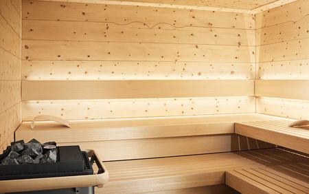 Interior view of the CHALET design sauna