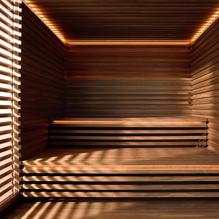 Interior design of the Matteo Thun Sauna
