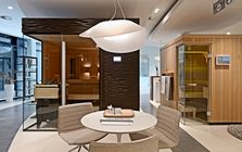 Sauna and spa showroom in Stuttgart: Sauna area