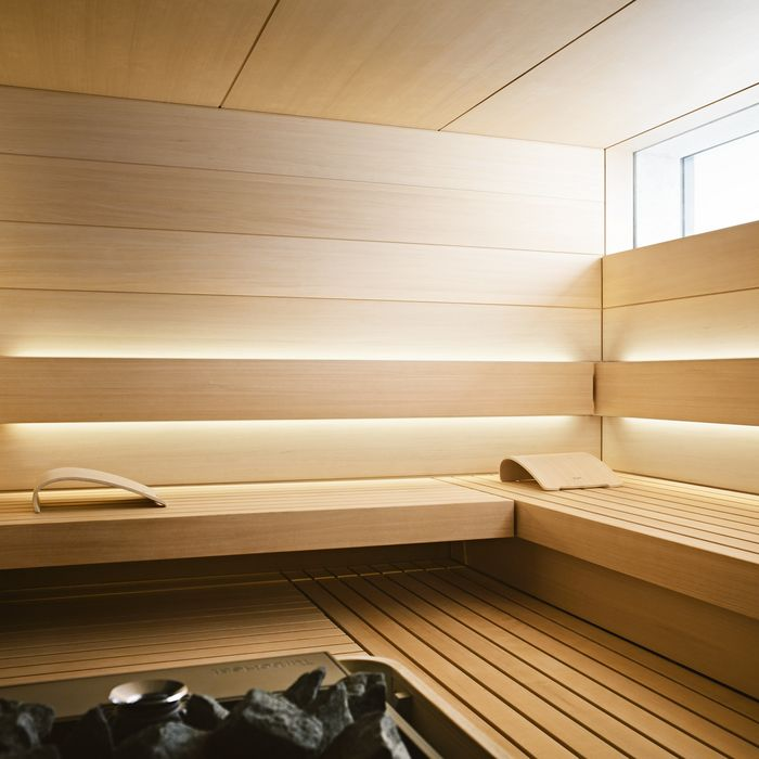 Interior view of SHAPE design sauna