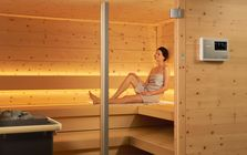 3. Start your sauna while out and about, then simply come home and relax.