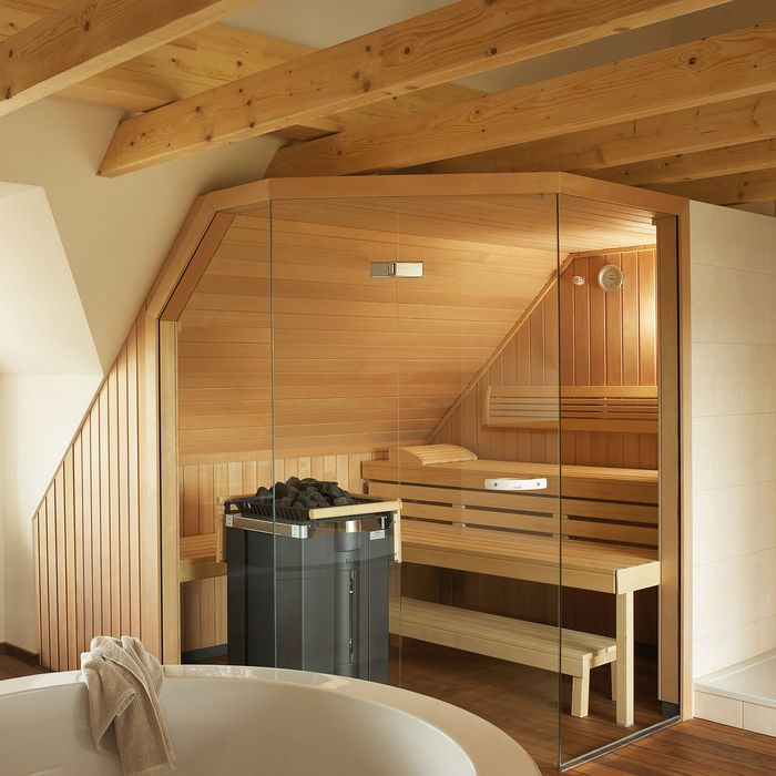 KLAFS manufactures made-to-measure saunas for rooms with complex layouts or features