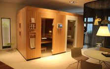 Sauna and spa showroom in Cologne: Sauna cabin
