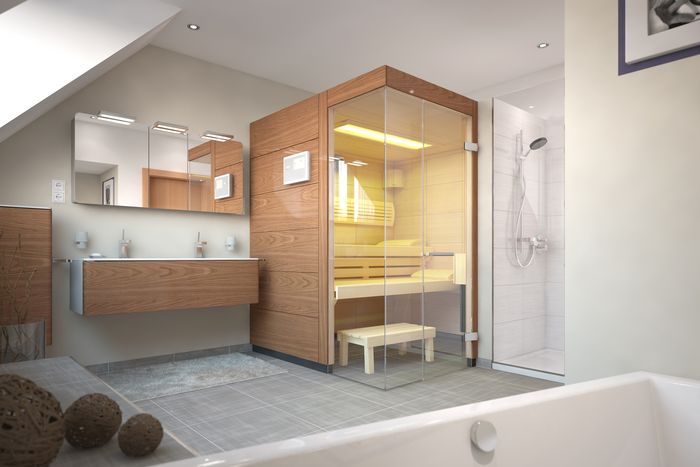 Almost any room in your home is suitable for a sauna.