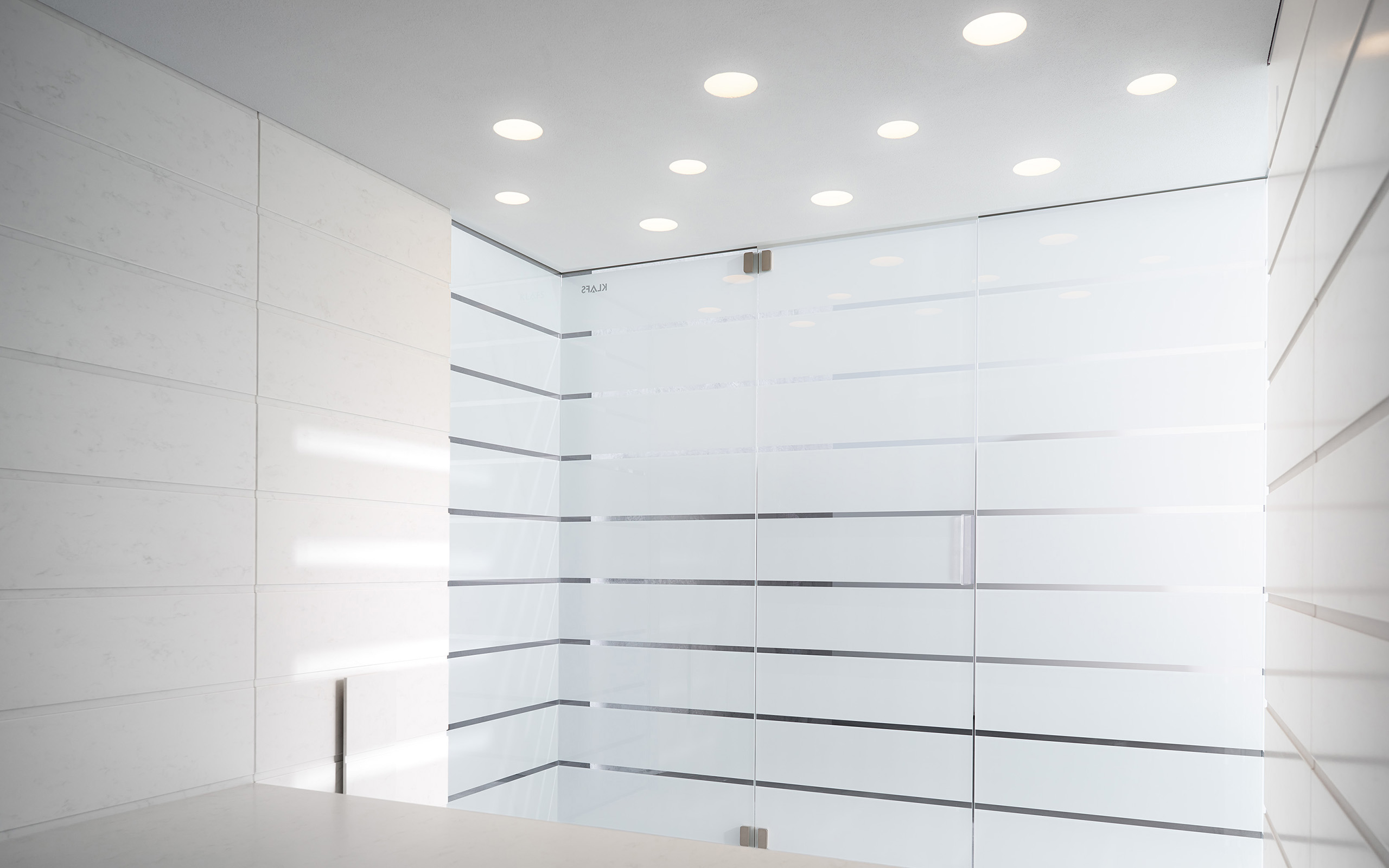 ... view of the MATTEO THUN steam room ...