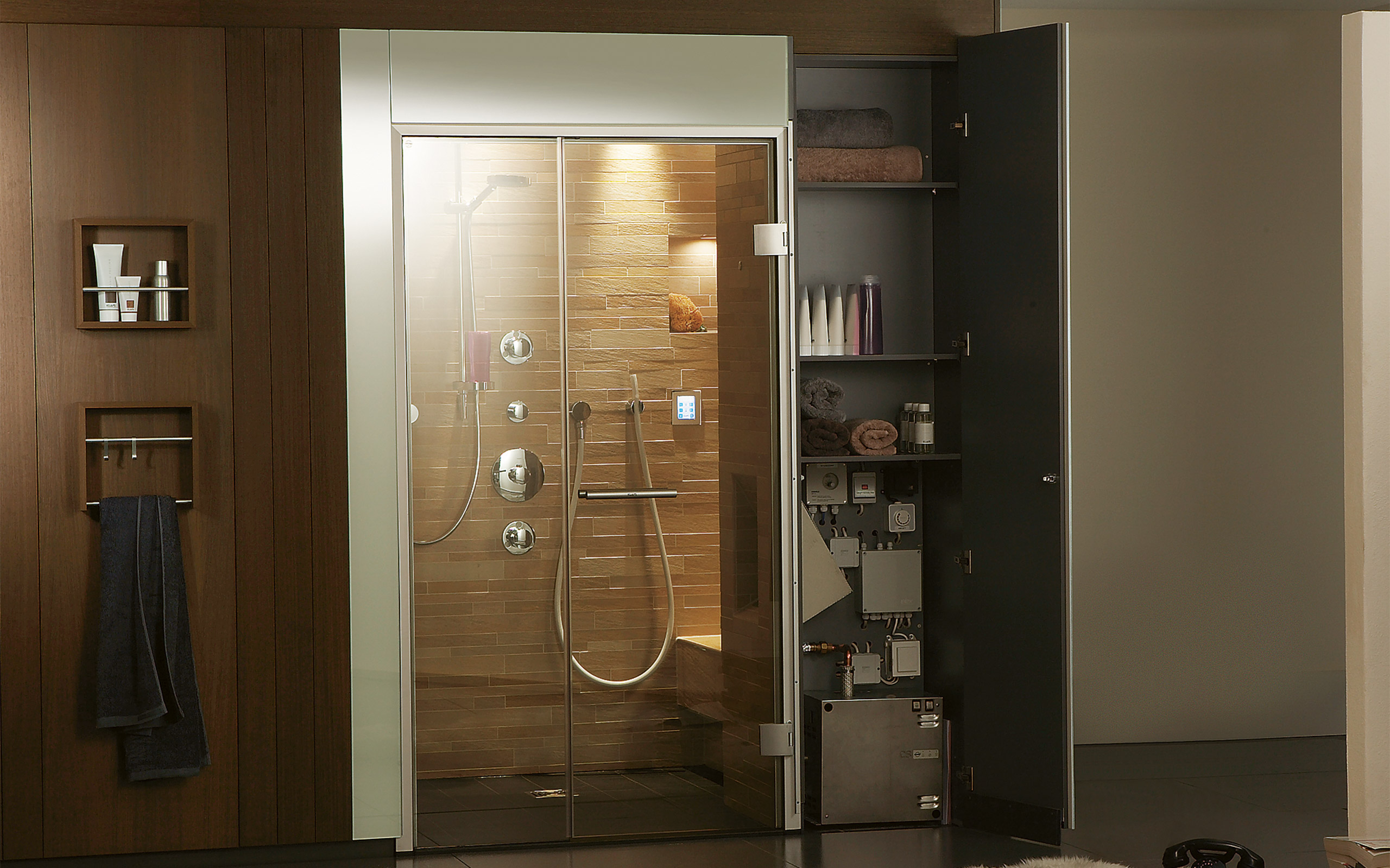 Klafs Steam Showers Maximum Indulgence And Minimum Space