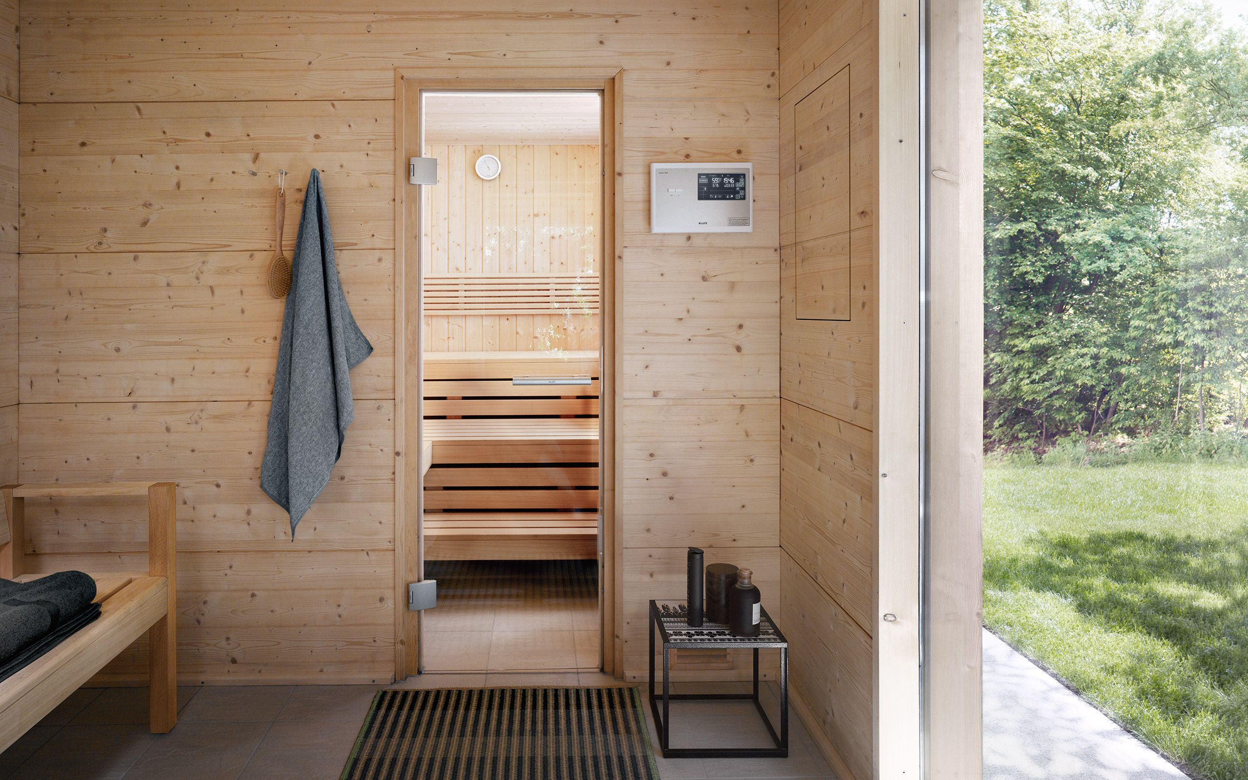 talo outdoor sauna swathed in natural surroundings. Black Bedroom Furniture Sets. Home Design Ideas