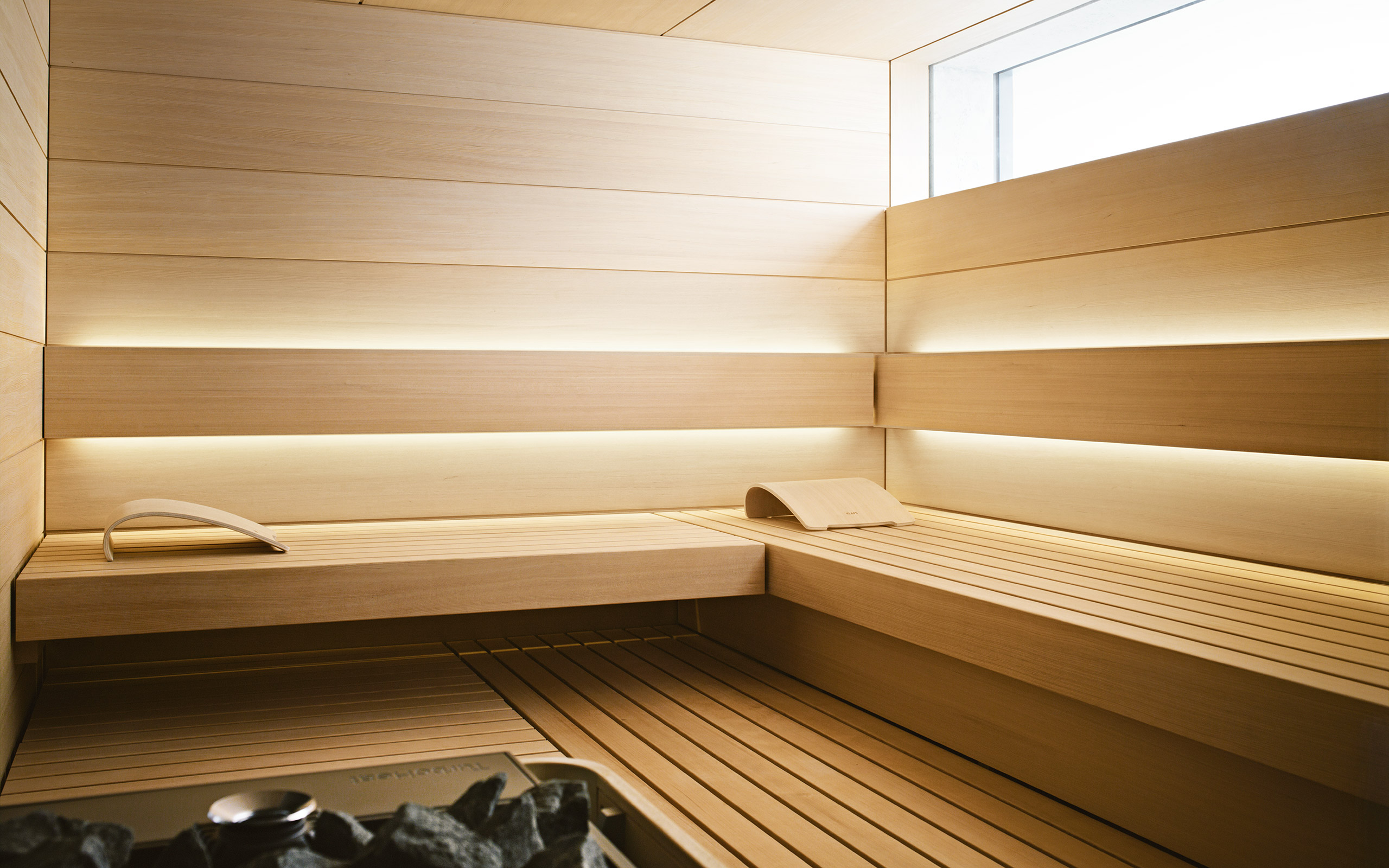 interior view of shape design sauna - Sauna Design Ideas