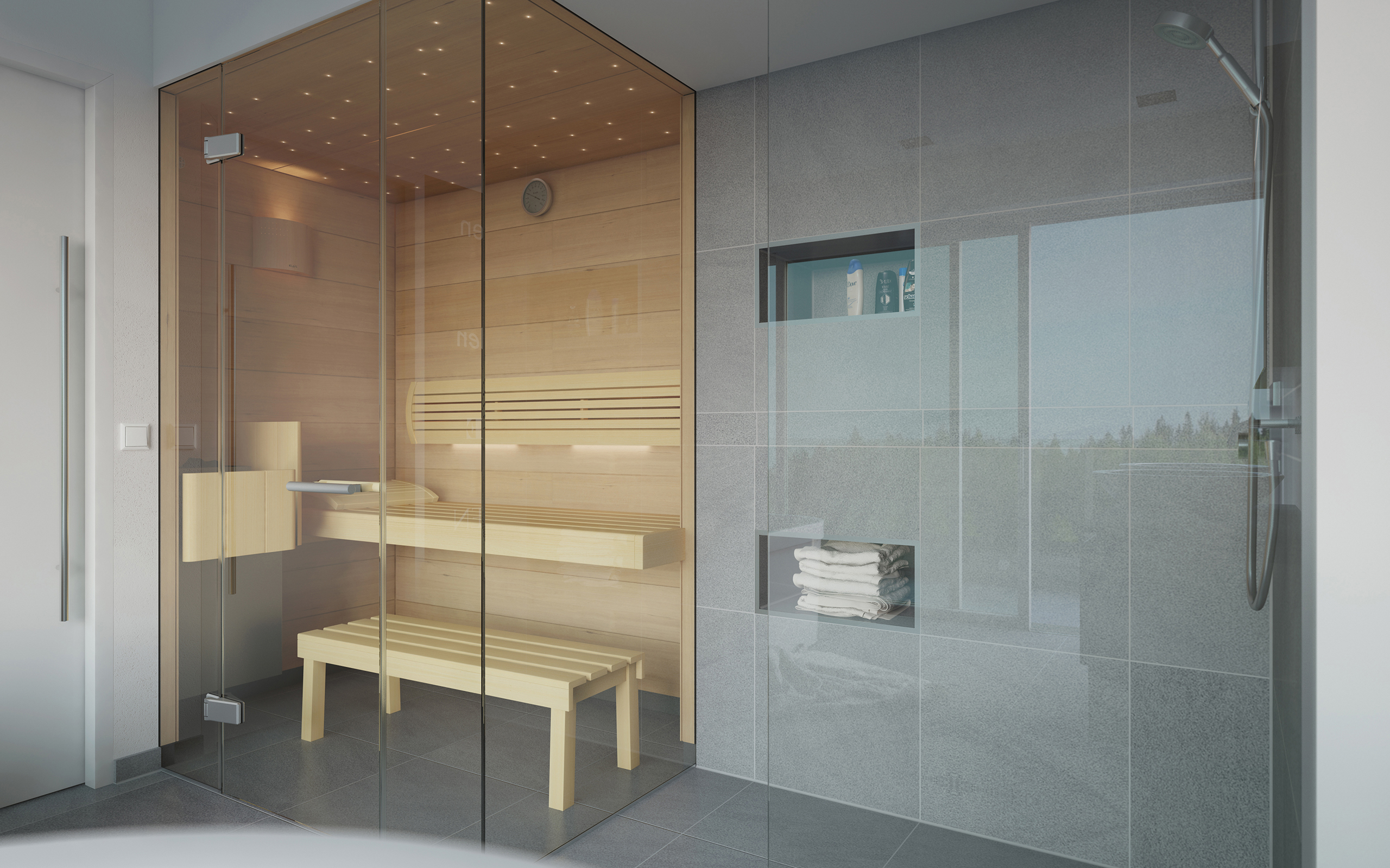 Beau Attractive Examples For Installing A Sauna In A Bathroom