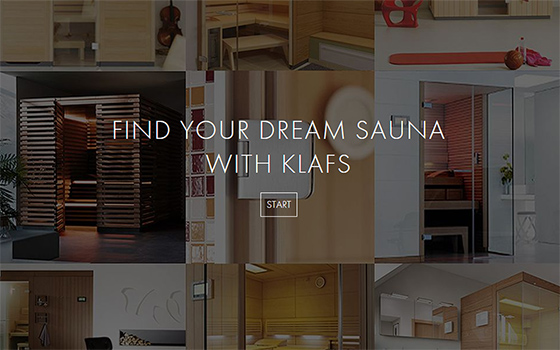 Start KLAFS Sauna Finder