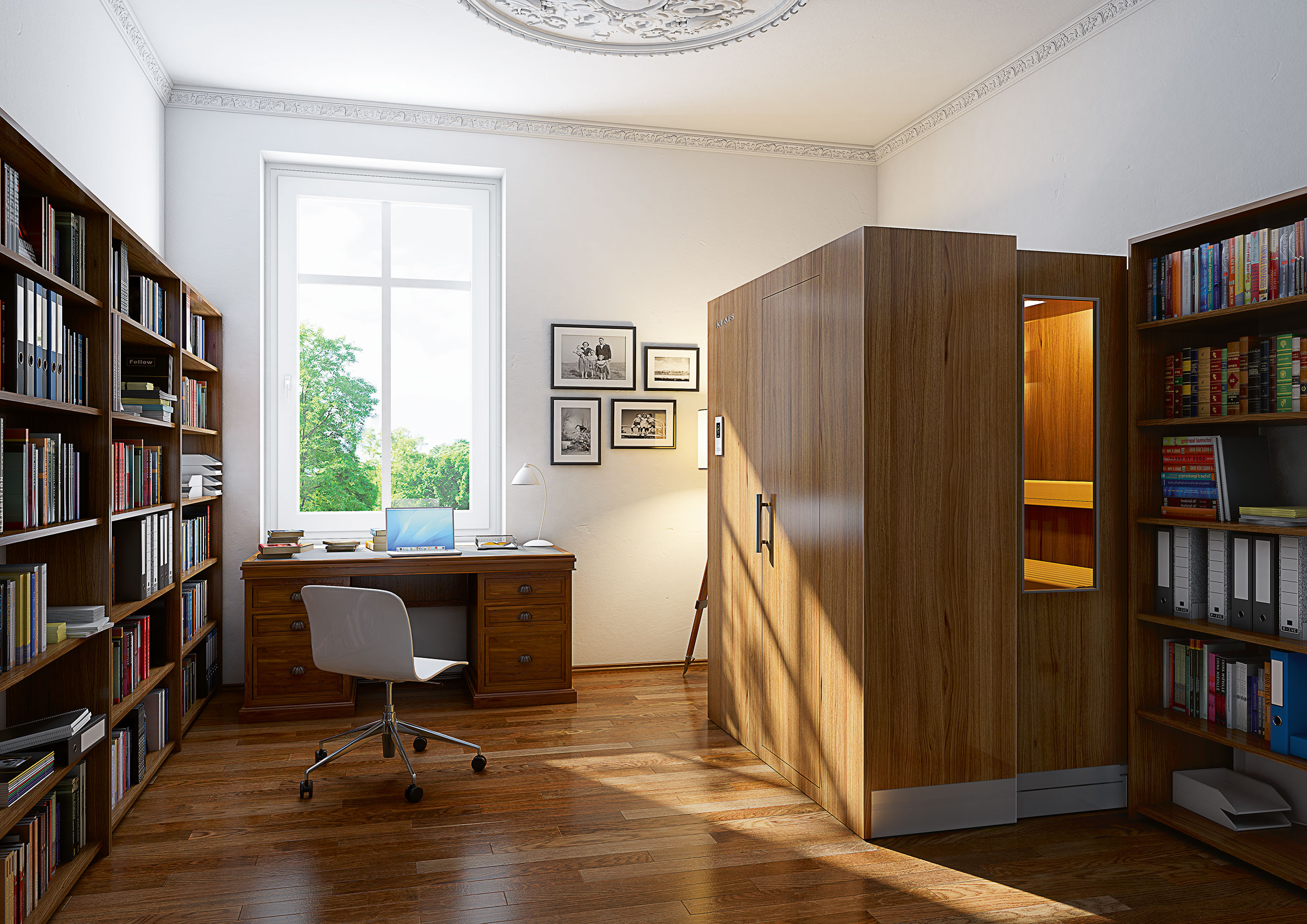 sauna s1 discover the sauna of the future discover the sauna s1 from klafs. Black Bedroom Furniture Sets. Home Design Ideas